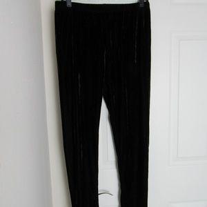 Pants - Black Velvet Pants Size L